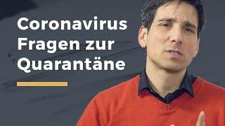 Video Thumbnail zum Artikel Coronavirus FAQ: Gesundheitsamt ordnet häusliche Quarantäne an