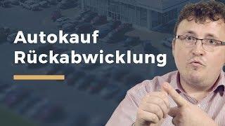 Video Thumbnail zum Artikel Autokauf – Rücktritt, Widerruf und Anfechtung