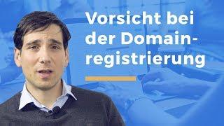 Video Thumbnail zum Artikel Vorsicht beim Registrieren einer Domain – der richtige Domainname