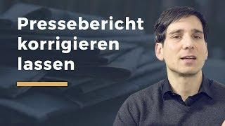 Video Thumbnail zum Artikel Falscher Zeitungsartikel – Schadensersatz und Berichtigung